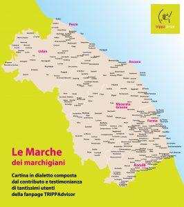 Cartina Geografica Delle Marche.La Cartina Delle Marche In Dialetto Trippadvisor