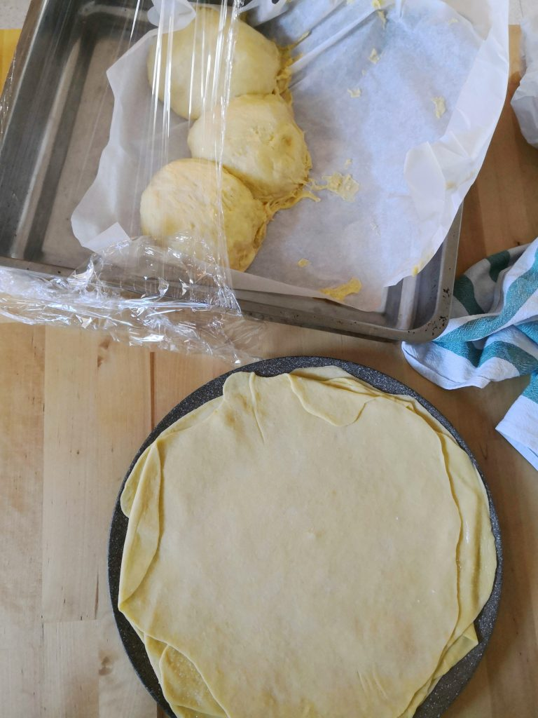 ricetta cornetti - stesura palline